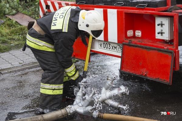 Пожар произошёл в доме на Автозаводской