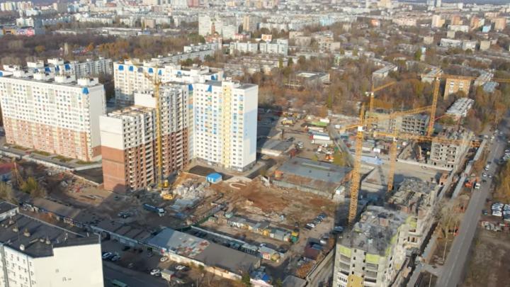 Лес кранов: смотрим, как в Самаре строят ЖК «Академический»
