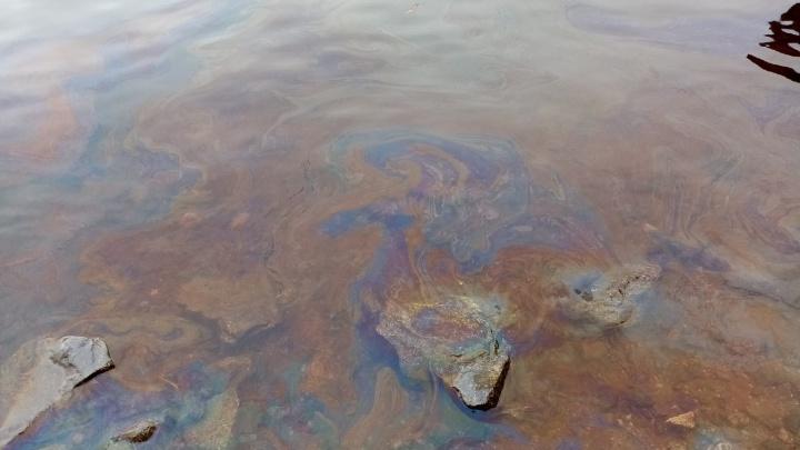 У берегов Кего местная жительница заметила странную пахучую жидкость, похожую на мазут