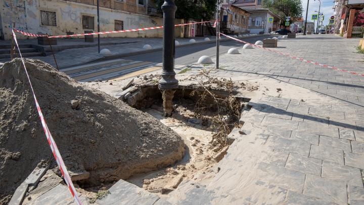 Центр Ростова затопило после прорыва труб. Администрация города объяснила, в чем причина