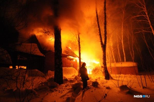 На ликвидацию пожара ушло примерно десять минут
