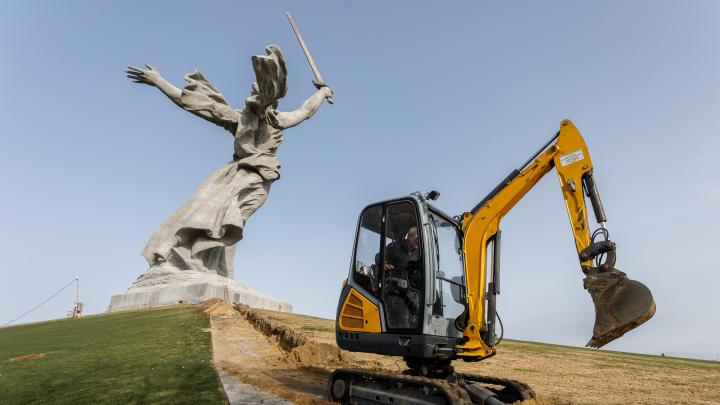 В Волгограде «Родину-мать» закончат реставрировать к Пасхе