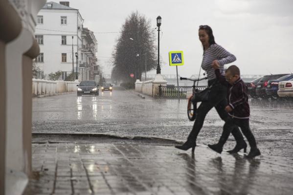 Синоптики предупредили, что в Ярославле будет дождливо