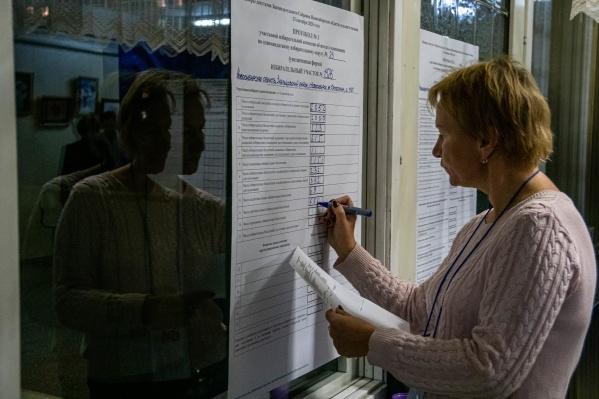 В Новосибирске идёт подсчёт голосов
