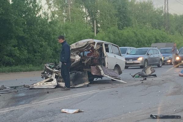 Водитель «Москвича» скончался на месте