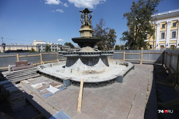 Конструктивно фонтан не изменится, приведут в порядок его вешний облик