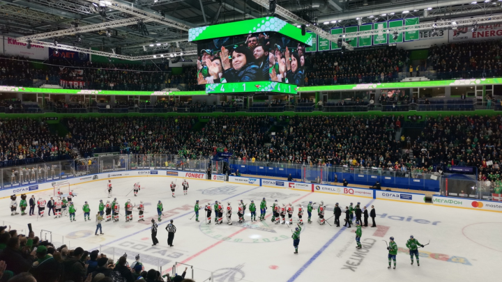 «Салават Юлаев» выиграл серию с «Авангардом» разгромной победой