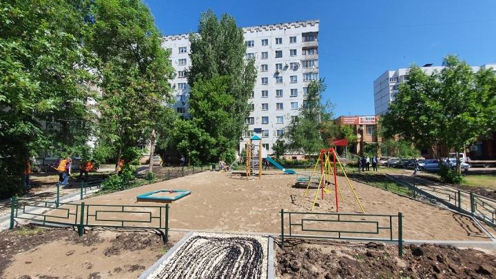 Детская площадка вместо зарослей: в Куйбышевском районе обустроят еще 5 дворов