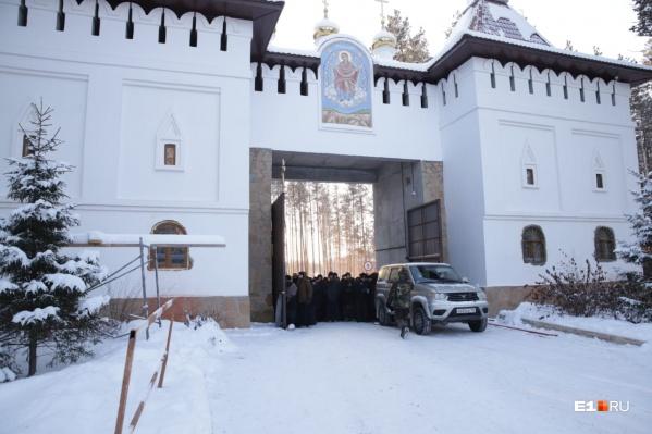 В монастырь приезжала делегация православной службы милосердия
