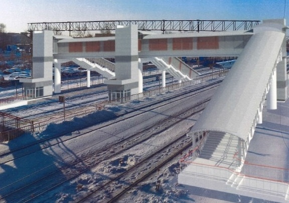На железнодорожной станции ВИЗ начали строить новый мост