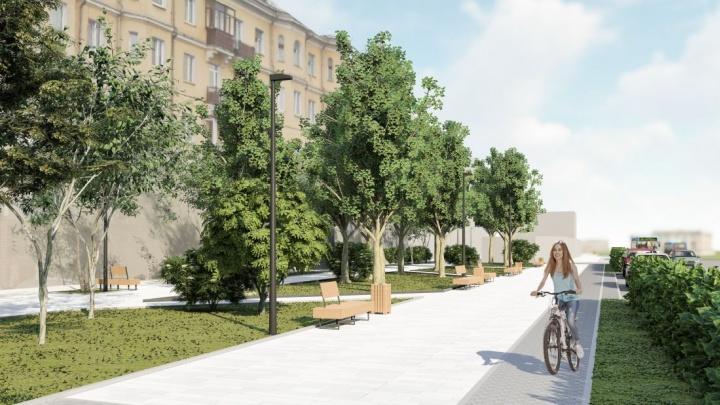 На Красрабе готовят пешеходный променад, как на проспекте Мира. Эскизы