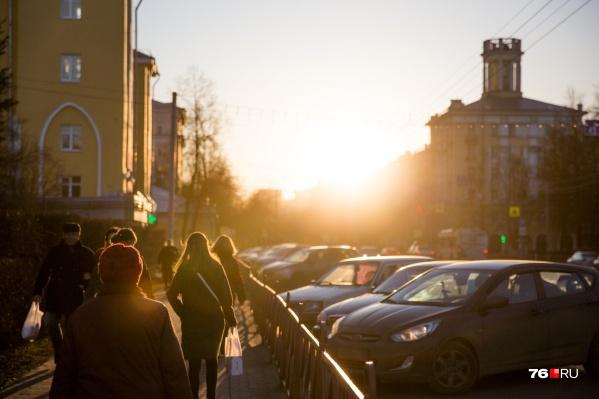 В Ярославле пик потепления на этой неделе ожидается в четверг