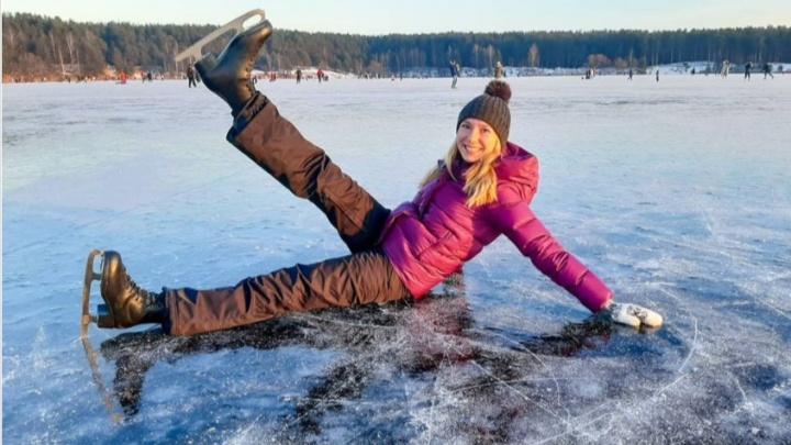 В Ярославской области озера превратились в гигантские катки. Самые крутые снимки из «Инстаграма»