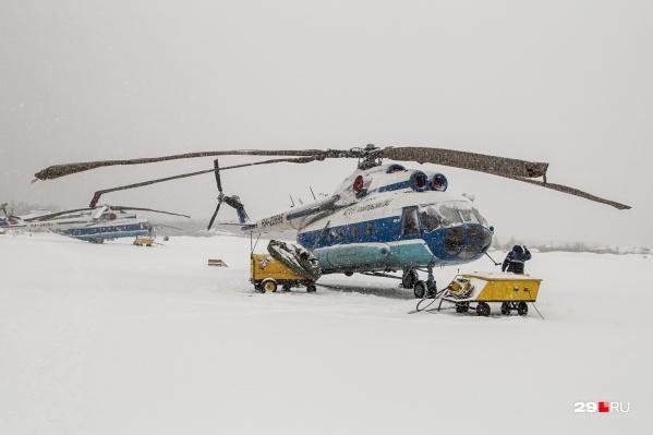 Вертолеты авиаотряда на время не будут перевозить пассажиров