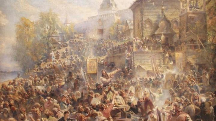 Картину «Воззвание Минина» выложат из портретов нижегородцев
