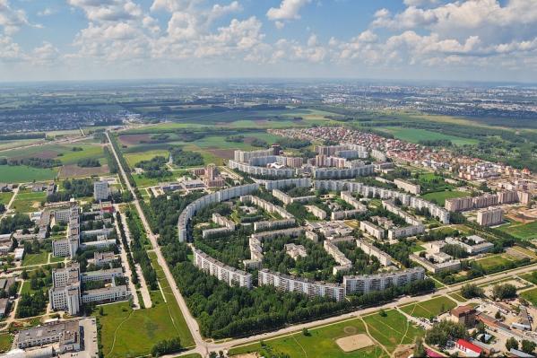 Жилые дома Краснообска построены в форме трех колец