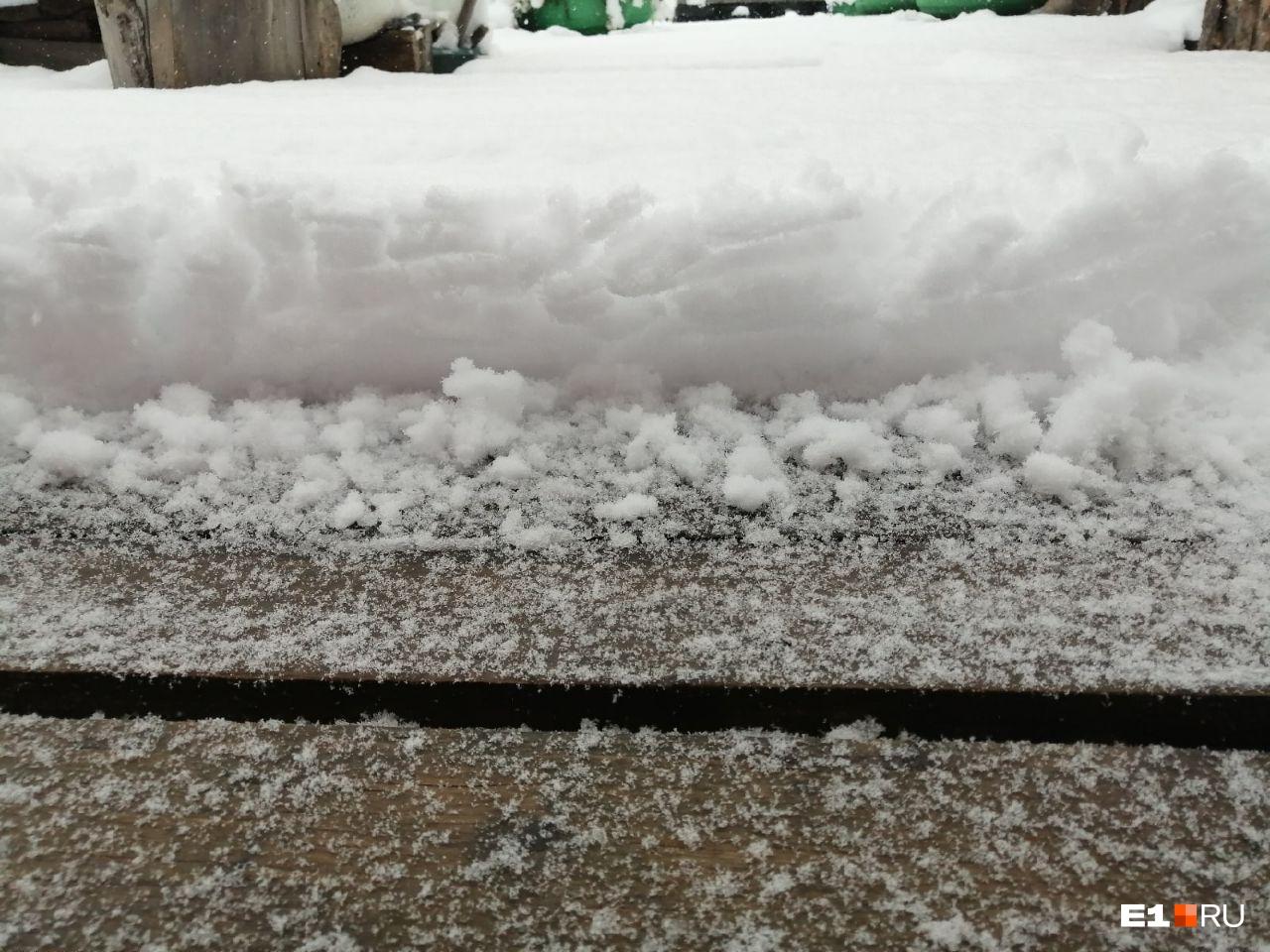 Вот такой снежный покров наблюдали в Красноуральске