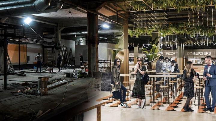 Одновременно смогут принять 1100 гостей: первый репортаж со стройки гигантского фуд-маркета в «Гринвиче»