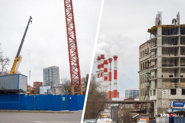 Посмотрите, как быстро растет «Державинский» и как начинается строительство «Гранд-Панорамы»
