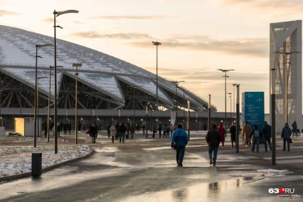 Стадион ввели в эксплуатацию27 апреля 2018 года