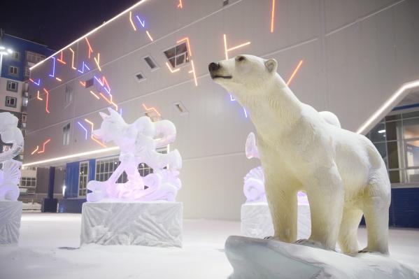 Комплекс получил свое название по результатам народного голосования в честь белой медведицы Айки