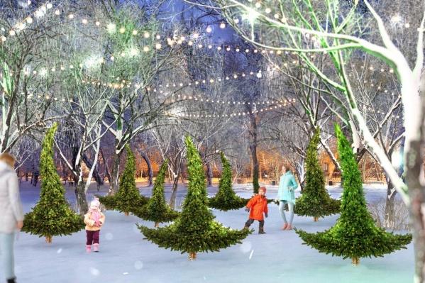 В Выставочном сквере можно будет станцевать вальс с елками