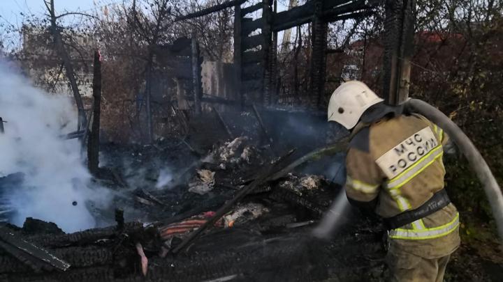 Осталось пепелище: в Самарской области вспыхнули 8 частных домов
