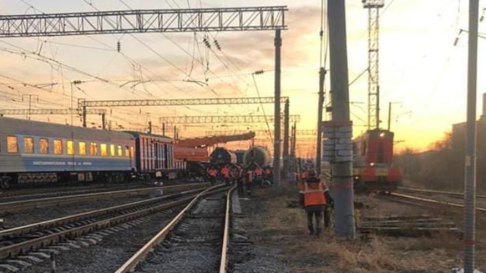 Вагон грузового поезда сошёл с рельсов в Нижегородской области