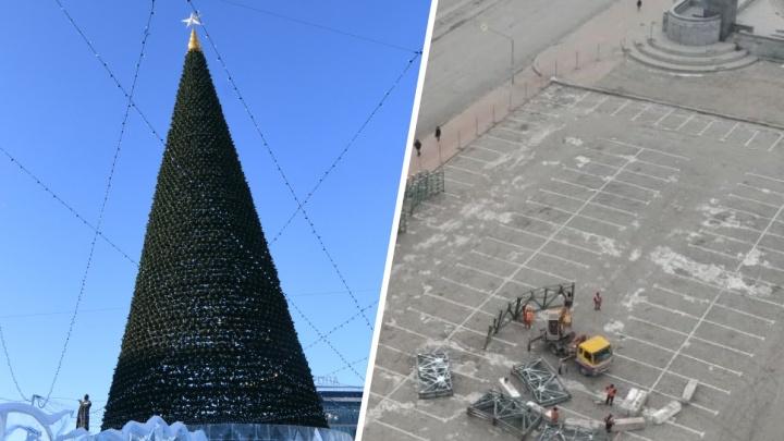 Стало известно, во сколько обошлась Екатеринбургу елка-конус на площади 1905 года