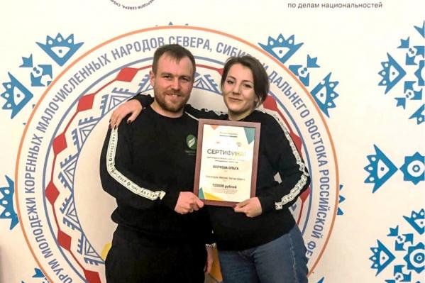 Ольга Беляева и создатель «Экопатруля» Альберт Бибин на форуме в Московской области