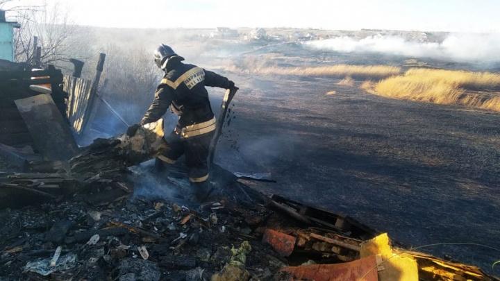 В Городищенском районе больше двух часов тушили вспыхнувший камыш