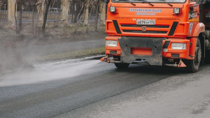 Цель — идеальная чистота к 1 мая: в Челябинске идёт активная уборка дорог и улиц