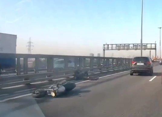 Кадр из видео очевидца в телеграм-канале «Мегаполис»