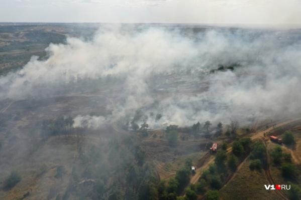Спасатели пытаются минимизировать количество пожаров