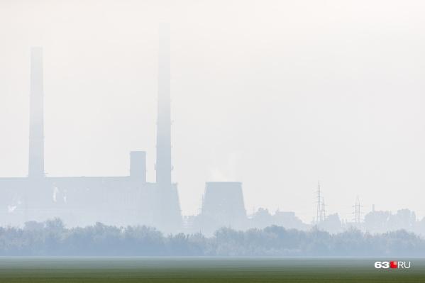 В больших городах смог — частое явление из-за выбросов вредных веществ
