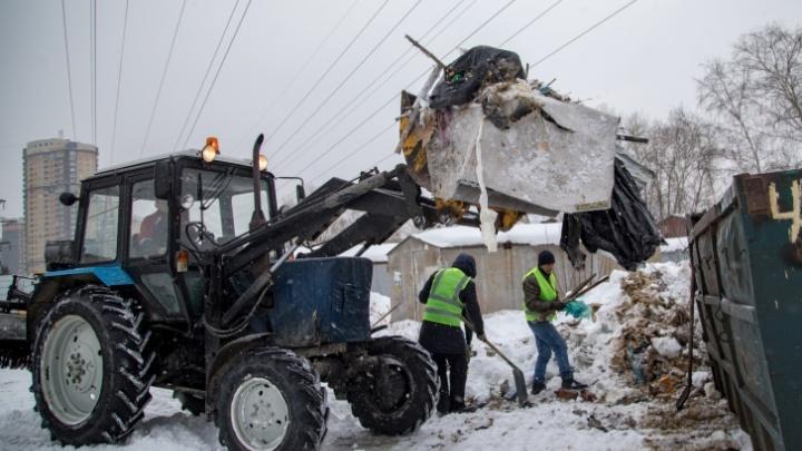 Администрация потратит почти миллион рублей на ликвидацию несанкционированных свалок в Октябрьском районе