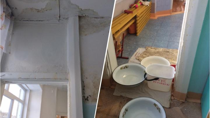 Ремонтировать нельзя: детсад на Широкой неделями заливает из-за протекающей крыши