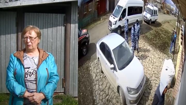 В Сети появилось видео о спецоперации ОМОНа, прошедшей в домах двух пенсионерок в Сухом Логу