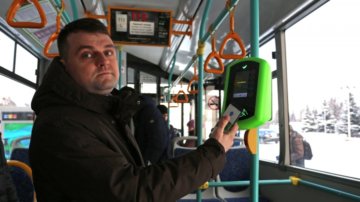 В уфимских автобусах установили терминалы для самостоятельной оплаты проезда