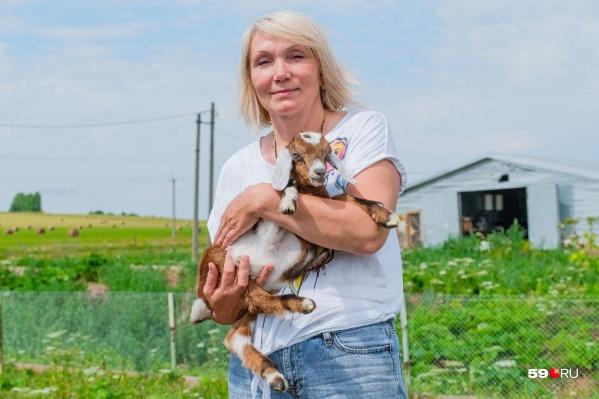 Наталья Ларченкова с малышом