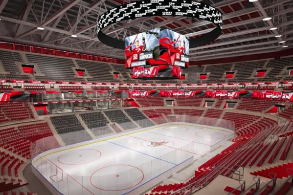 Новая арена будет вмещать почти на две тысячи зрителей больше