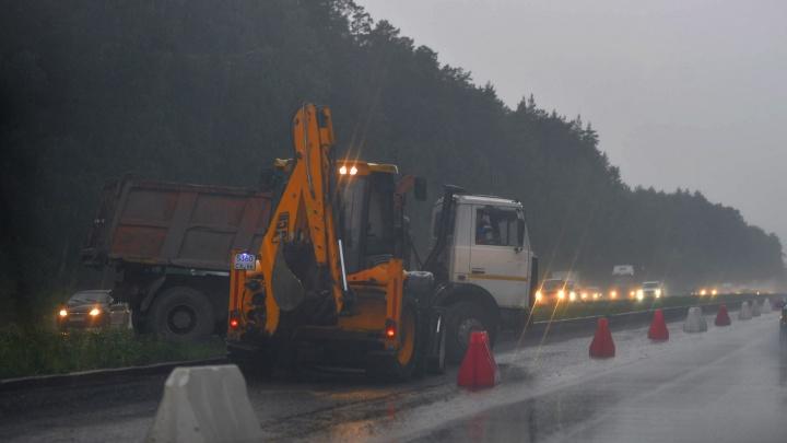 Останется одна полоса и пробки: дорожники частично перекроют участок на трассе Пермь — Екатеринбург