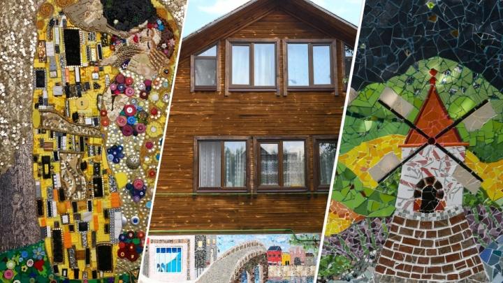 Дачный шик: адвокат из Екатеринбурга украсила свой загородный дом огромной мозаикой