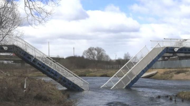 «Сложился от ветра»: в посёлке Борисоглебский обрушился мост за 20 миллионов