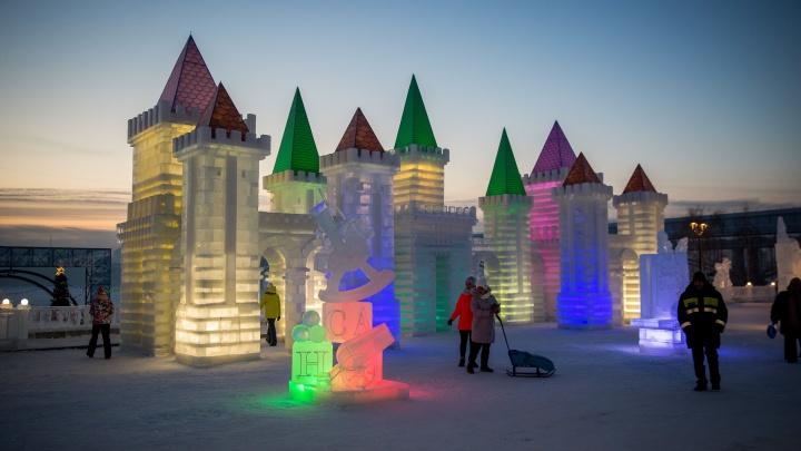 Стала известна дата открытия ледового городка на Михайловской набережной в Новосибирске