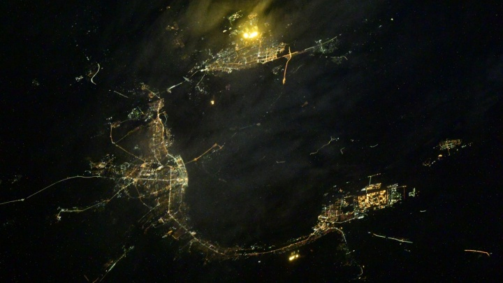 Город на ладони: ночной Волгоград вновь сфотографировали с борта МКС