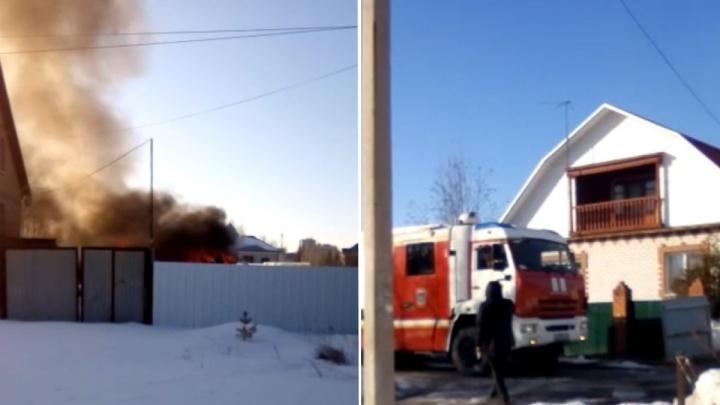 На Мысу тушили пожар площадью 70 квадратных метров