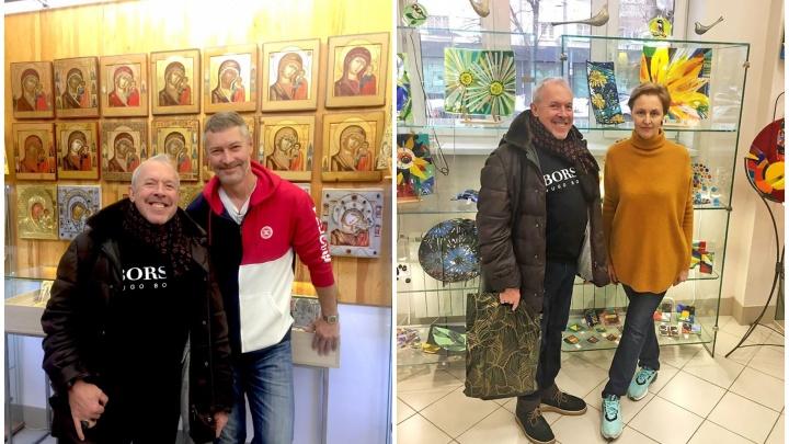 Перед концертом в Екатеринбурге Андрей Макаревич побывал в гостях у Ройзмана и его жены