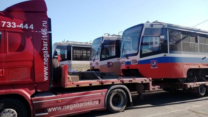 Три московских вагона: показываем столичные трамваи в прямом эфире