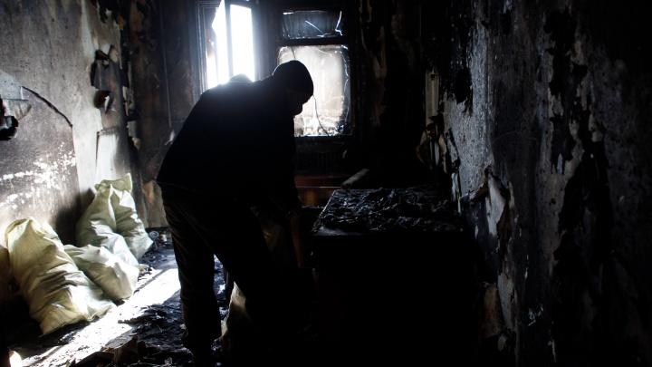 В квартире на севере Волгограда сгорел человек